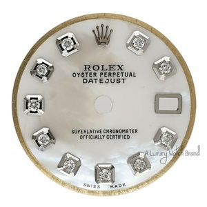 White Diamond Dial for Rolex Lady Datejust 26mm SS
